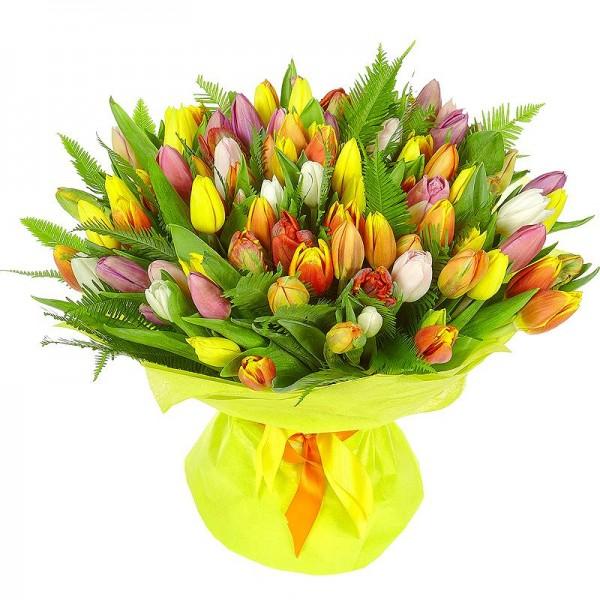 Ее любимые тюльпаны